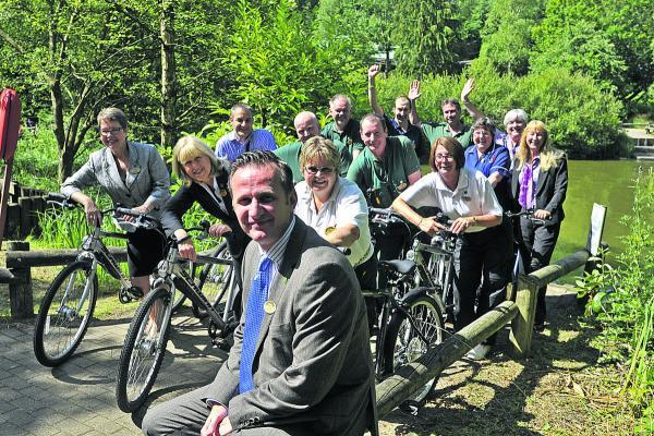 Long-serving staff at Centre Parcs Longleat Forest with general manager Andy De'Ath