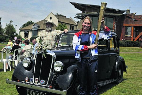 Paralympian Stephanie Millward arrives to open the Dorothy House Summer Fete, chauffered by Steve Knight;