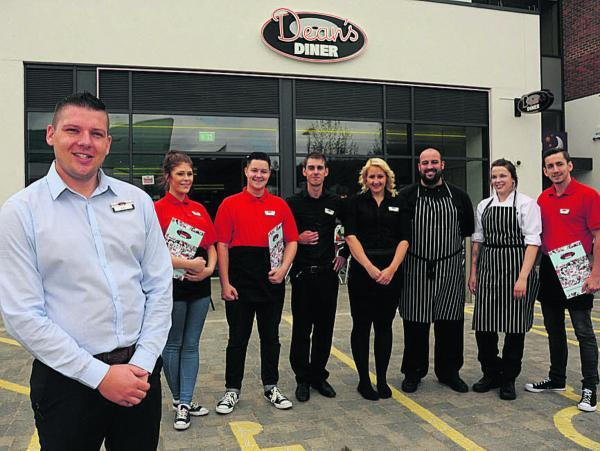 Paul Ashton with his team at Dean's Diner at St Stephen's Place Leisure Park. Picture by Trevor Porter