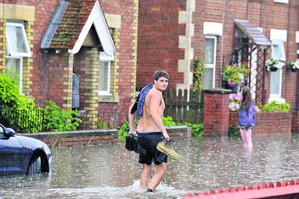 Flash floods and travel disruption as storms batter Trowbridge
