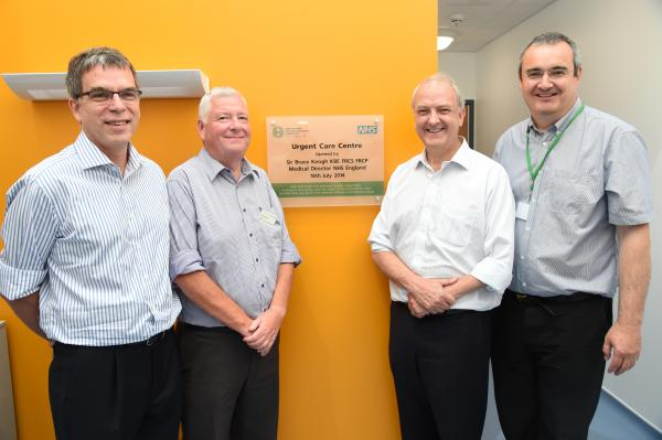 Sir Bruce opens Urgent Care Centre at Royal United Hospital