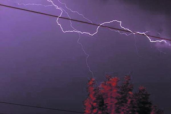 Raurie Allen took this picture of lighting over Trowbridge