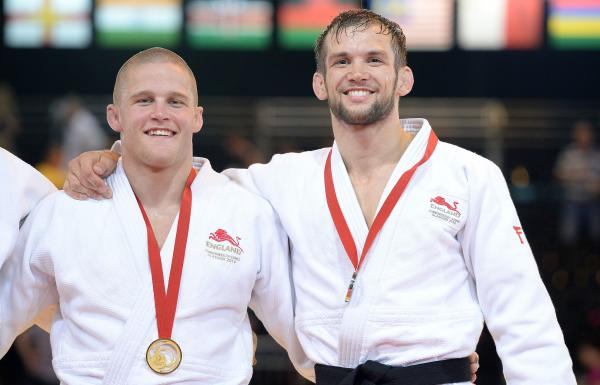 Tom Reed (right) with gold medallist Owen