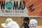 Gruff Rhys plays in the backstage area at Womad this year. Picture by Diane Vose