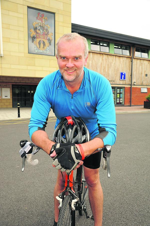 Lance Allan puts in some training for his 800 mile ride