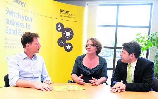Clegg praises Chippenham firm during visit and predicts bright future for town