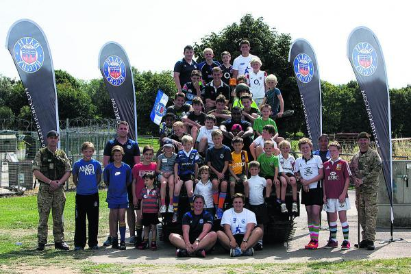 There were big smiles all round after two days of hectic rugby activities and fun times for children of serving Army personnel set up by Bath Rugby's community team
