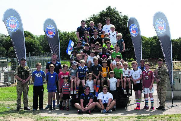 There were big smiles all round after two days of hectic rugby activities and fun times for children of serving Army personnel set up by Bath Rugby�