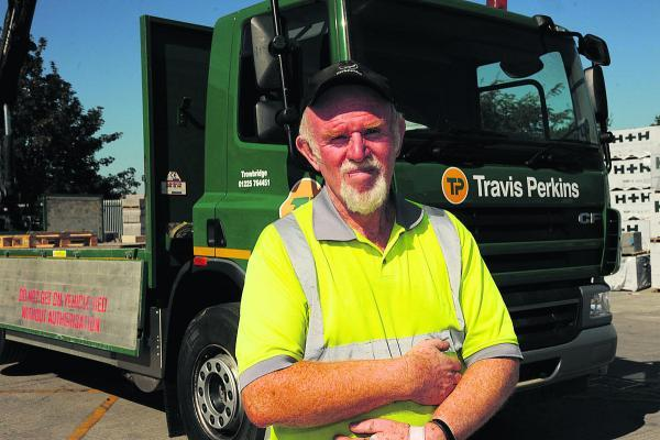 Trevor Hanney who has clocked up 40 years service with the Bradford Road builders merchants (TP 50137). Photo: Trevor Porte
