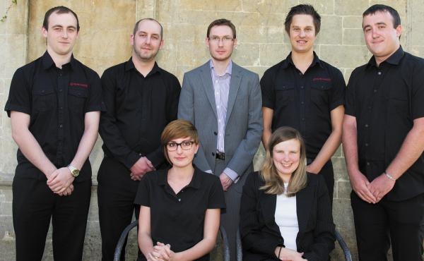 The Systemagic team, Will Barnes, back left, Chris Sweet, James Eades, Arran Bennett and  Nathan Painter. Front row , Emily Basford left and Hazel Eades