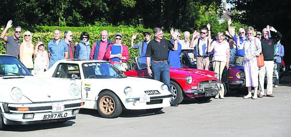 The classic car run organised by Devizes and District Motor Club started from the Oliver Cromwell p