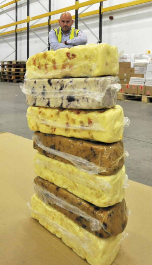Melksham-based Coombe Castle International sales manager Richard Green has to find new customers for 7 tonnes of cheese hit by a Russian import ban Photo: Glenn Phillips (49674-4)