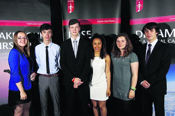 Pupils from St Augustine's College who competed in the BASE competition, from left,  Niamh Dunne, Kristian DeVitto, Samuel Jones, Olivia Bomani, Ruth Chester and Louis Wain