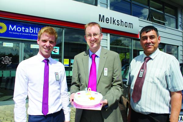 Sales executive Andy Turner, brand manager James Austen and after-sales manager Nigel Carter