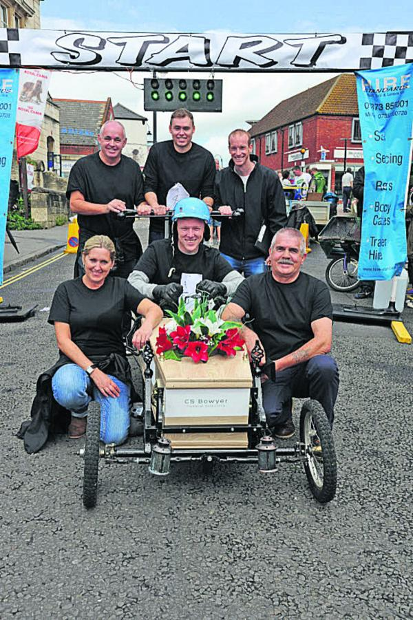 The CS Bowyer team after their entry won the best decorated soapbox category. Picture by Trevor Porter (50204)