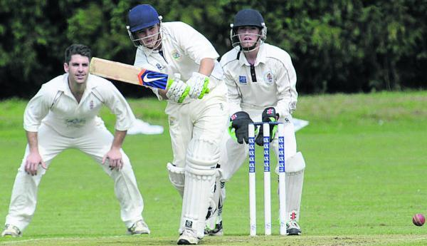 Trowbridge's Tom Oakley bats against Marshfield last weekend