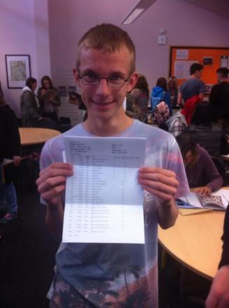 Matravers pupil Ryan Hull, 16, achieved three A*s, four As and two Cs