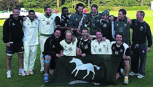 Wiltshire celebrate becoming Unicorns Championship Western Division champions (Picture: Jon Williams)