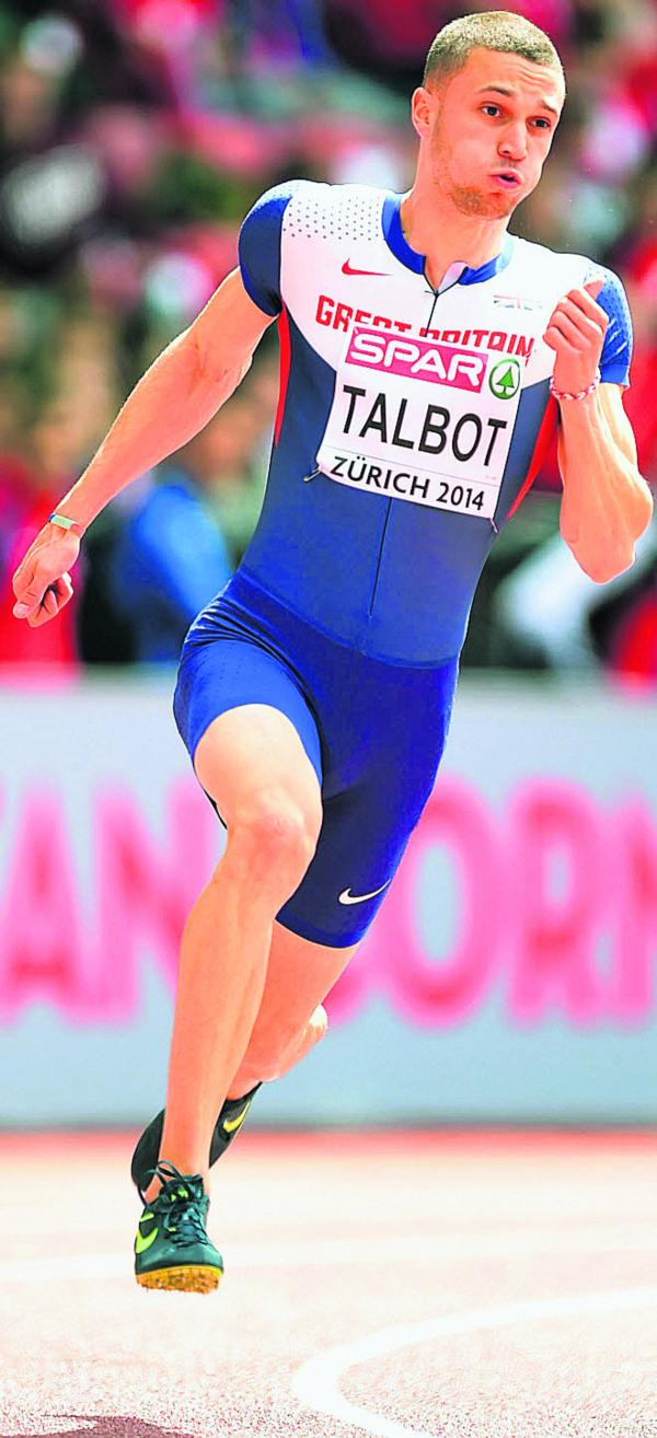 Danny Talbot competes in the 200m heats at the European Championships in Zurich last week