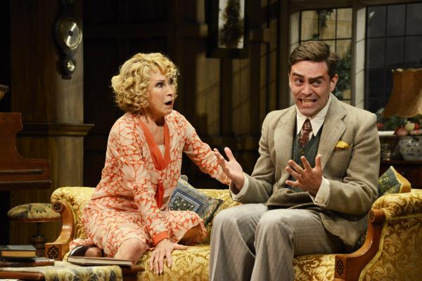 Felicity Kendall and James Corrigan in Hayfever at the Theatre Royal, Bath