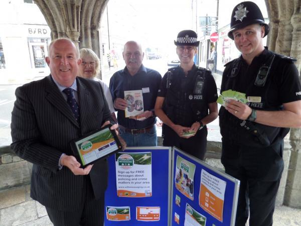 Police and Crime Commissioner Angus Macpherson at a Community Messaging launch event in Malmesbury