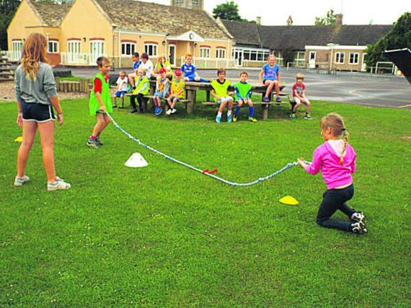 Youngsters had fully supervised indoor and outdoor fun