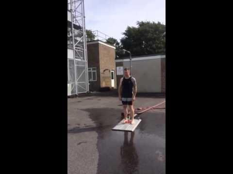 Trowbridge Fire Station watch manager Neil Hiscock ready for his ice bucket challenge