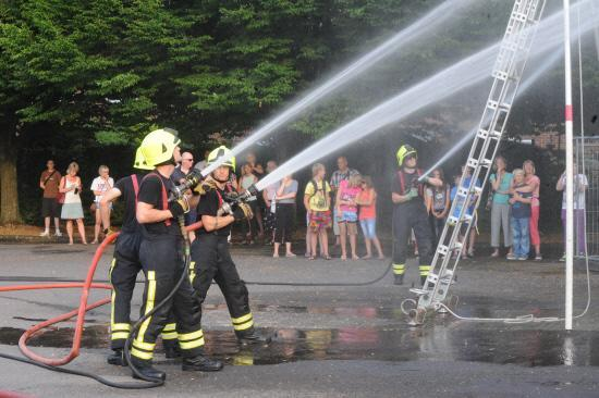 Westbury firefighters at an event last year