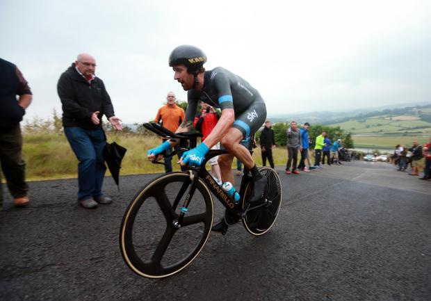 Sir Bradley Wiggins during the National Time Trial Championships, Monmouthshire