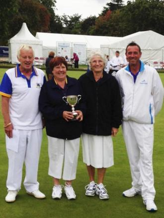 Wiltshire were runners-up in the national Mixed Fours competition at Leamington Spa. From left,  Nick and Carol Grenfell, Janet Hardie and Graham Shadwell