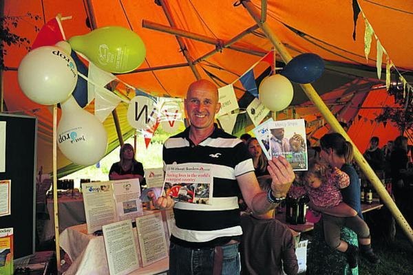 Ian Berry, with the Winsley Village Project, at the Hartley summer fair      P