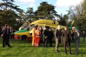 Applause greets new Wiltshire Air Ambulance