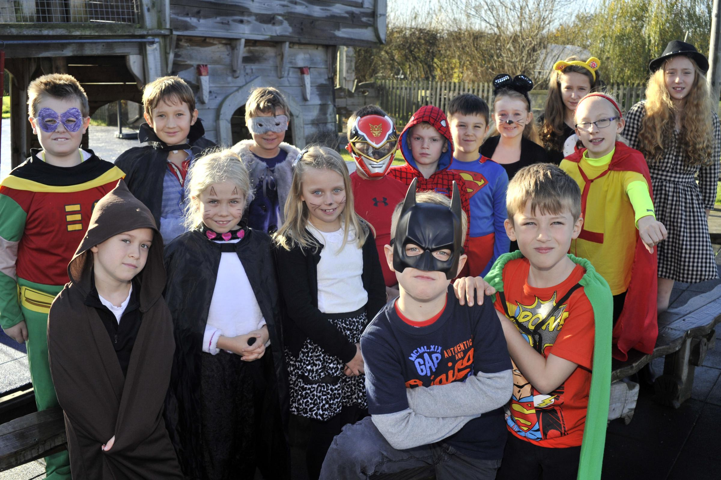 Superheroes out in force at The Mead Community Primary School, Hilperton. Picture by Glenn Phillips