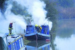 Safety alert as man dies in canal boat blaze