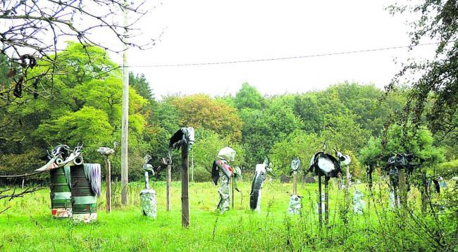Walk wings its way past Upton Lovell sculptures