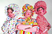 Merrily Powell, Tina Duffin and Lesley Scholes star in The Phantom of the Panto at The Wharf