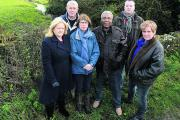 Allington residents, from left, Elizabeth Kennedy, Howard and Valerie Ham, Chris Baker, Ken Kennedy and Tracey Barrow