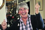 Priscilla Lawson of Wingfield celebrates her £500 win in the Wiltshire Times' Cash for Xmas competition