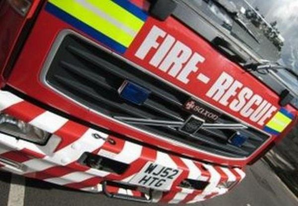 Solar panel fire in Holt
