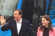 David Cameron and Michelle Donelan, the Conservative Chippenham parliamentary candidate, in Corsham this afternoon
