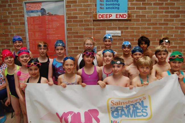 Pupils from Horningsham Primary School took first place in the Small Schools Swimming Gala held at Kingdown Pool (26904512)