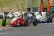 Adam Higgins leads Michael Moyes through Camp corner to take valuable points in the Formula Ford championship race  Pictures by Trevor Porter (51450-3)