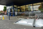 The accident scene at Lidl in Warminster. By Trevor Porter (51447)