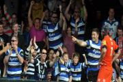 Hat-trick man Matt Banahan celebrates during last weekend's semi final victory over Leicester Tigers (Photo: Bob Ascott)
