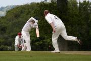Bradford on Avon's Tony Laws bowls to Urchfont's David Bromley during Bradford's 188-run defeat in Division One on Saturday