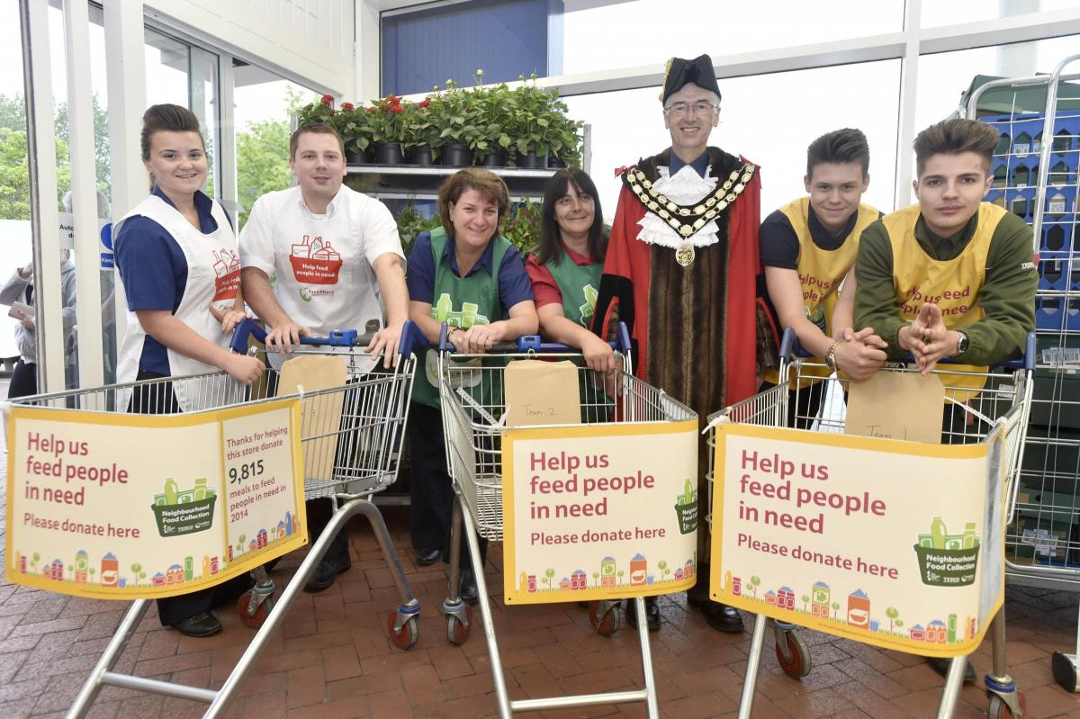 Tesco Foodbank Appeal Launched At Trowbridge Supermarket