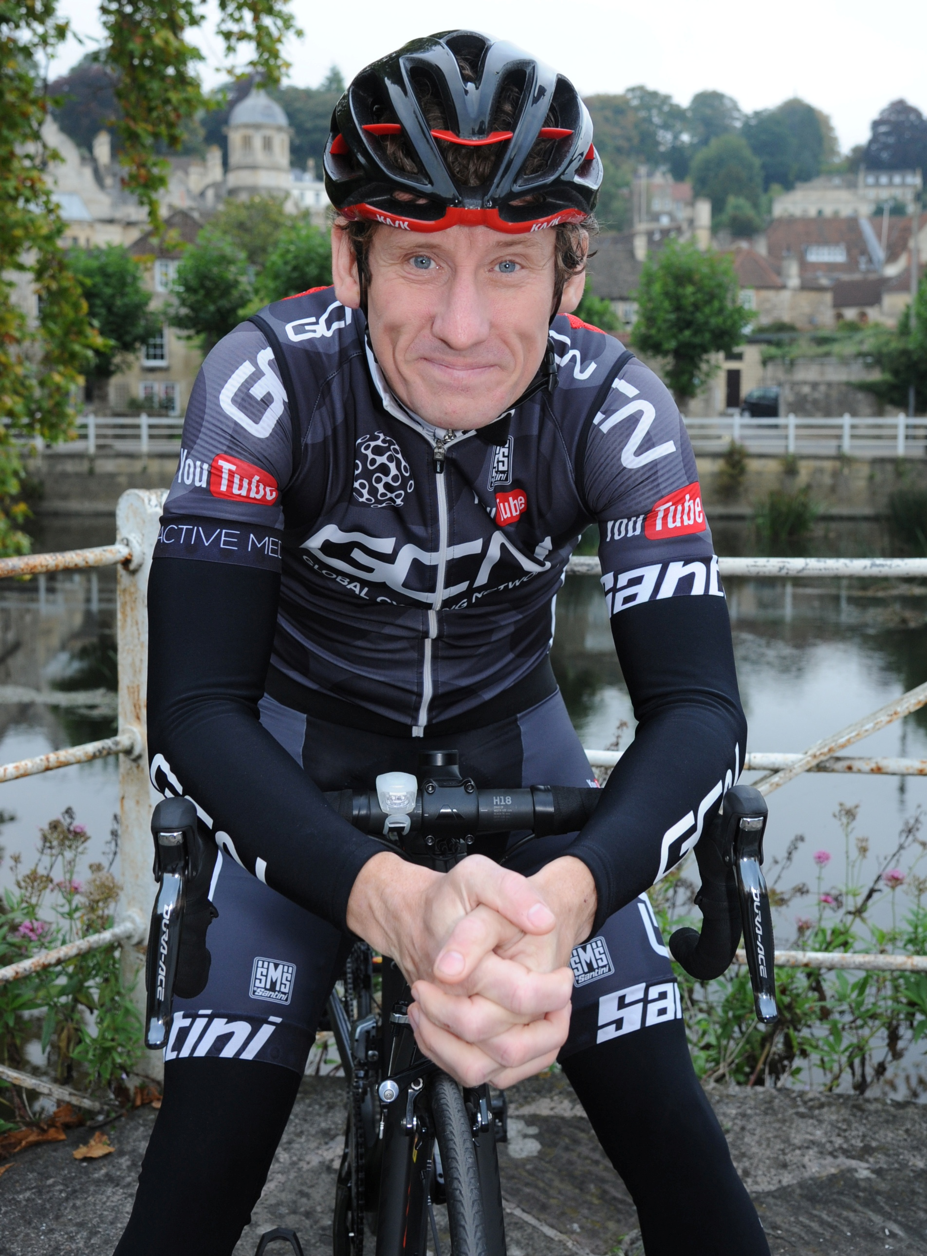 Matt Stephens, former British Road Race Champion, now a YouTube presenter, who has made Bradford on Avon his home. Picture by Trevor Porter