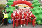 Ready for the Dash Santas  at the start of at Dorothy  House.. Pics Trevor Porter TP52204-10