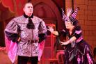 Adam Woodyatt as Chambers and Jenny-Ann Topham as the Wicked Queen in the Wyvern Theatre's Snow White and the Seven Dwarfs. Picture by Pete Dewhirst