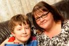 Young carer Ben Till from Westbury. He is pictured with his mum Claire Till who he helps when she is ill.Siobhan Boyle (SMB828/4)